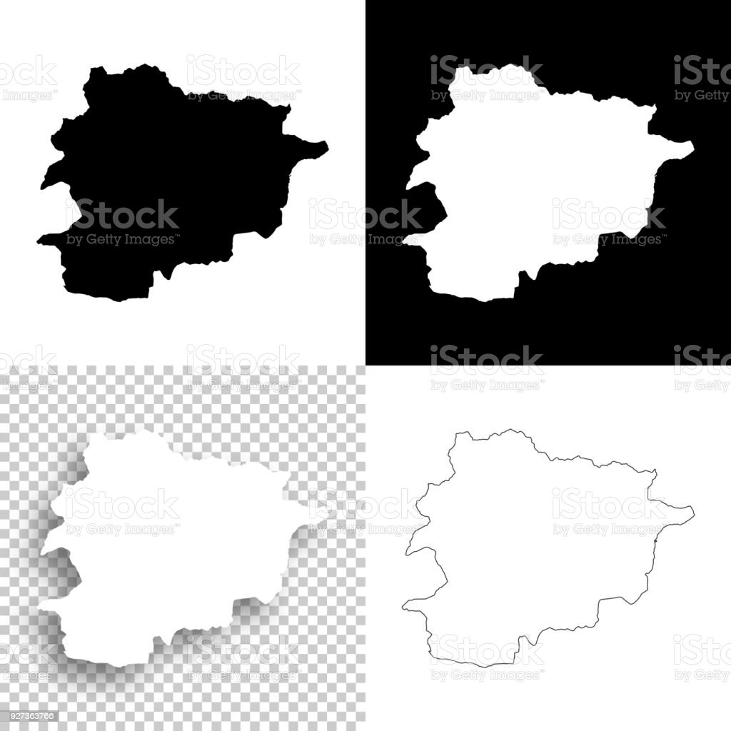 Andorra maps for design - Blank, white and black backgrounds - Royalty-free Abstract stock vector
