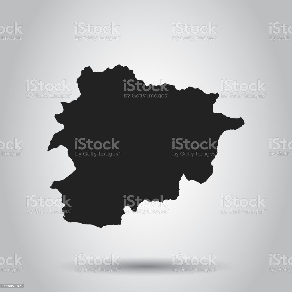 Andorra vector map black icon on white background stock vector art andorra vector map black icon on white background royalty free andorra vector map gumiabroncs Images