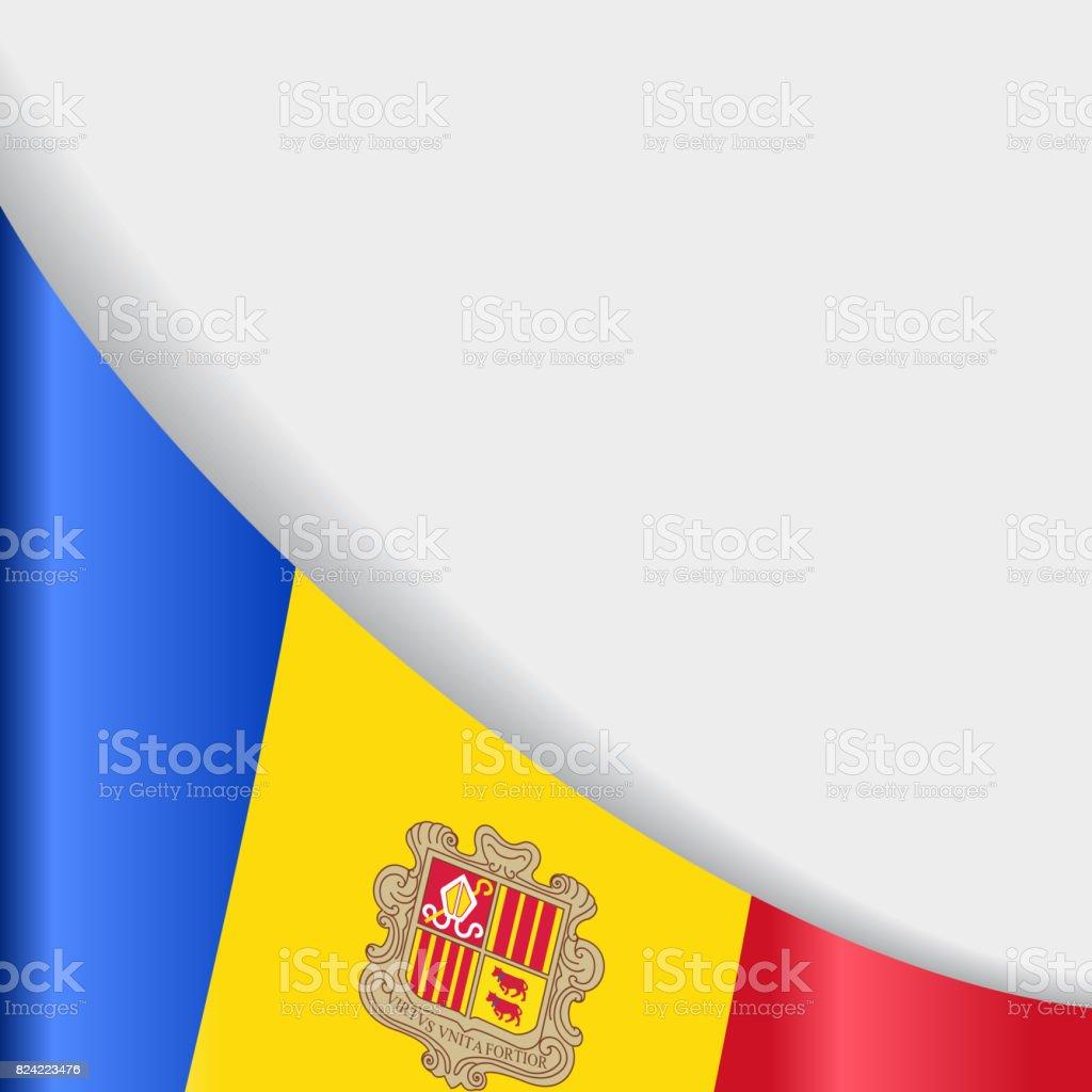 Andorran flag background. Vector illustration. vector art illustration