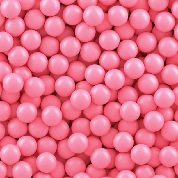 stockillustraties, clipart, cartoons en iconen met сandy ballen achtergrond - kauwgom
