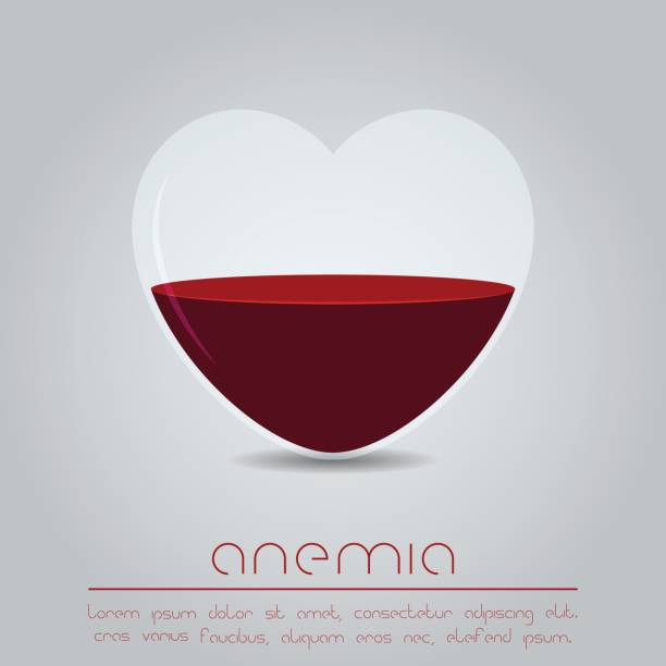 Anemia concept Heart with red liquid anemia stock illustrations