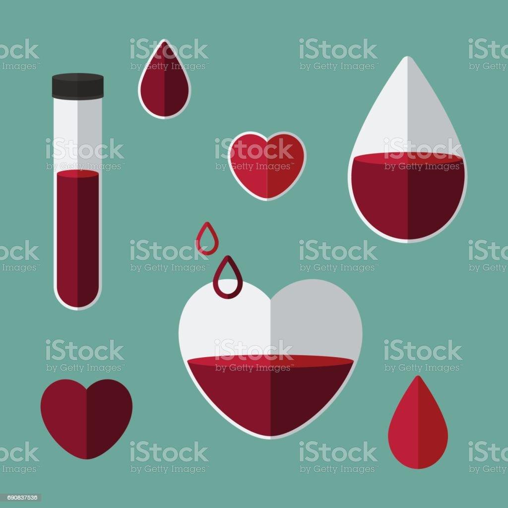 Anemia concept vector art illustration