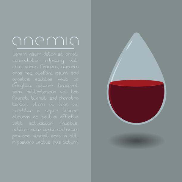 Anemia concept vector art illustration