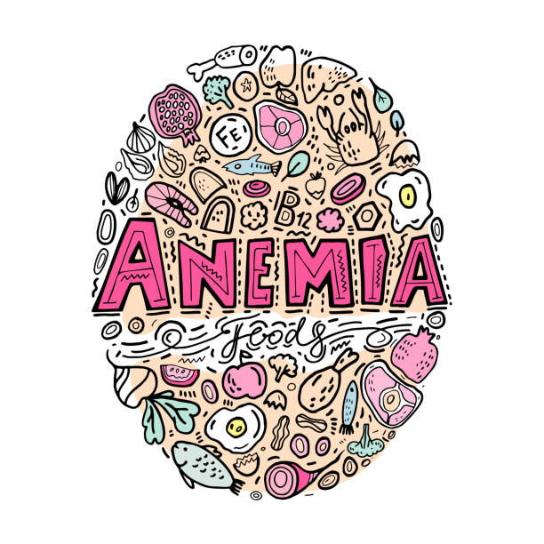 anemia doodles background - vegetable blood stock illustrations, clip art, cartoons, & icons