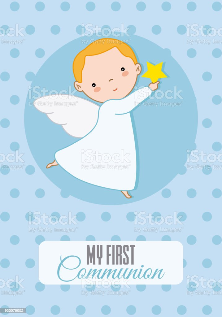 angel boy vector art illustration