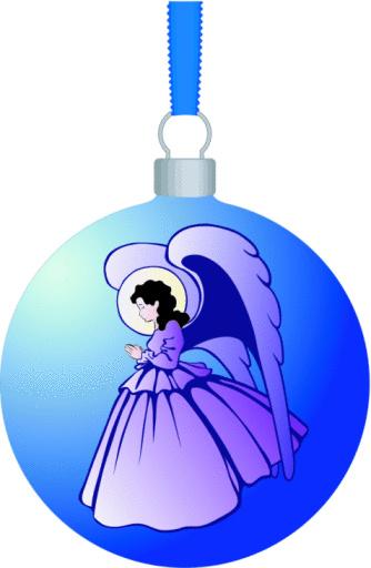 Vetores de Angel Bola De Natal Com Enfeites e mais imagens de Anjo
