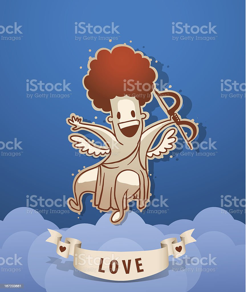 Angel cupid rejoicing royalty-free stock vector art