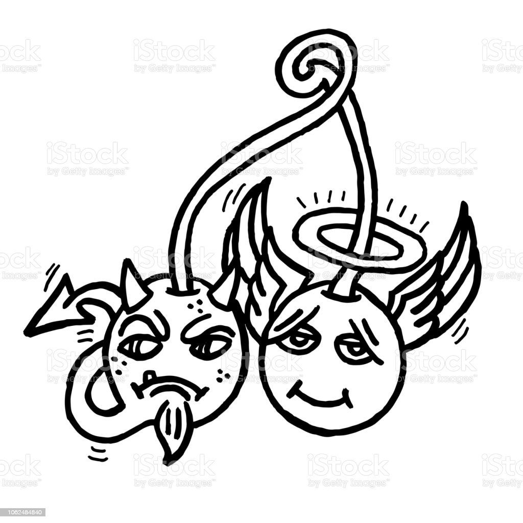 Angel Demon Cherries Stock Illustration Download Image Now Istock