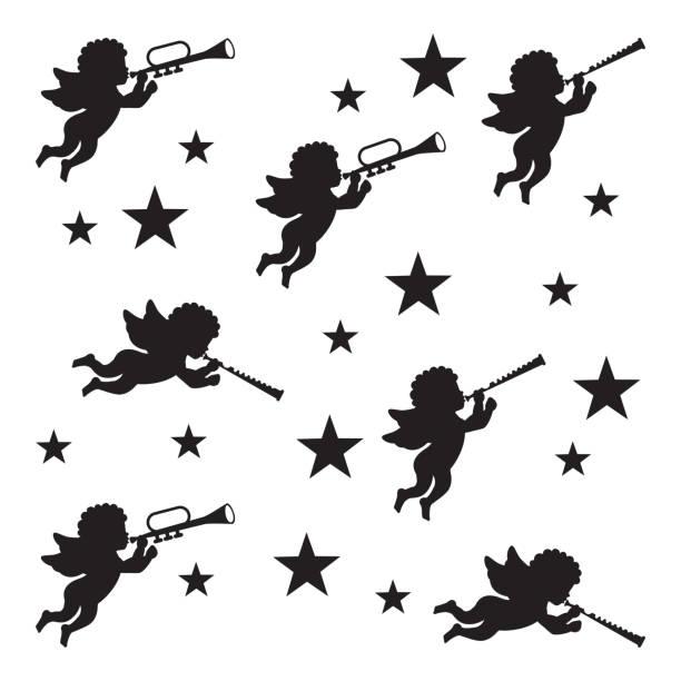 illustrations, cliparts, dessins animés et icônes de angel design - enfants de bande dessinée