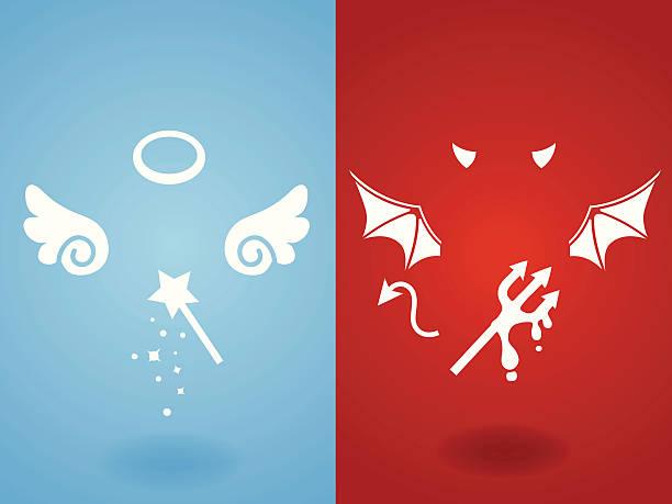 Diavolo angelo & concetto vettoriale EPS10 File - illustrazione arte vettoriale