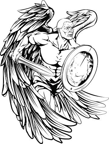 Angel drawing