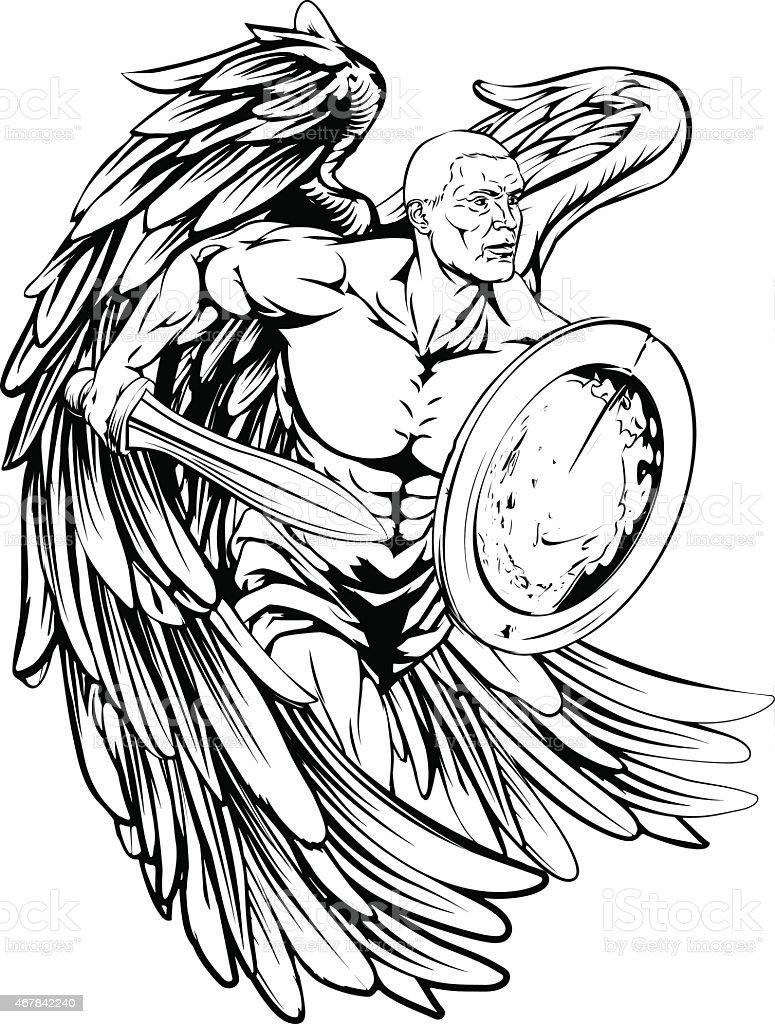 Ángel dibujo - ilustración de arte vectorial