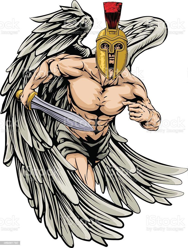 Ángel luchador - ilustración de arte vectorial