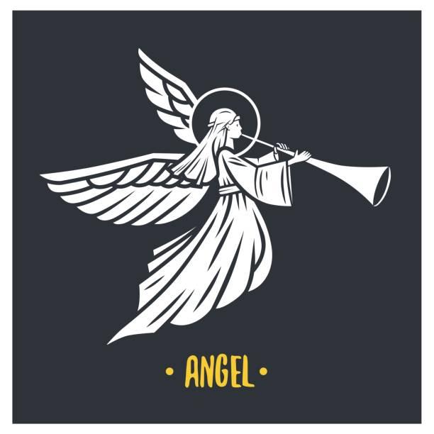 Angel god. Vector illustration. vector art illustration