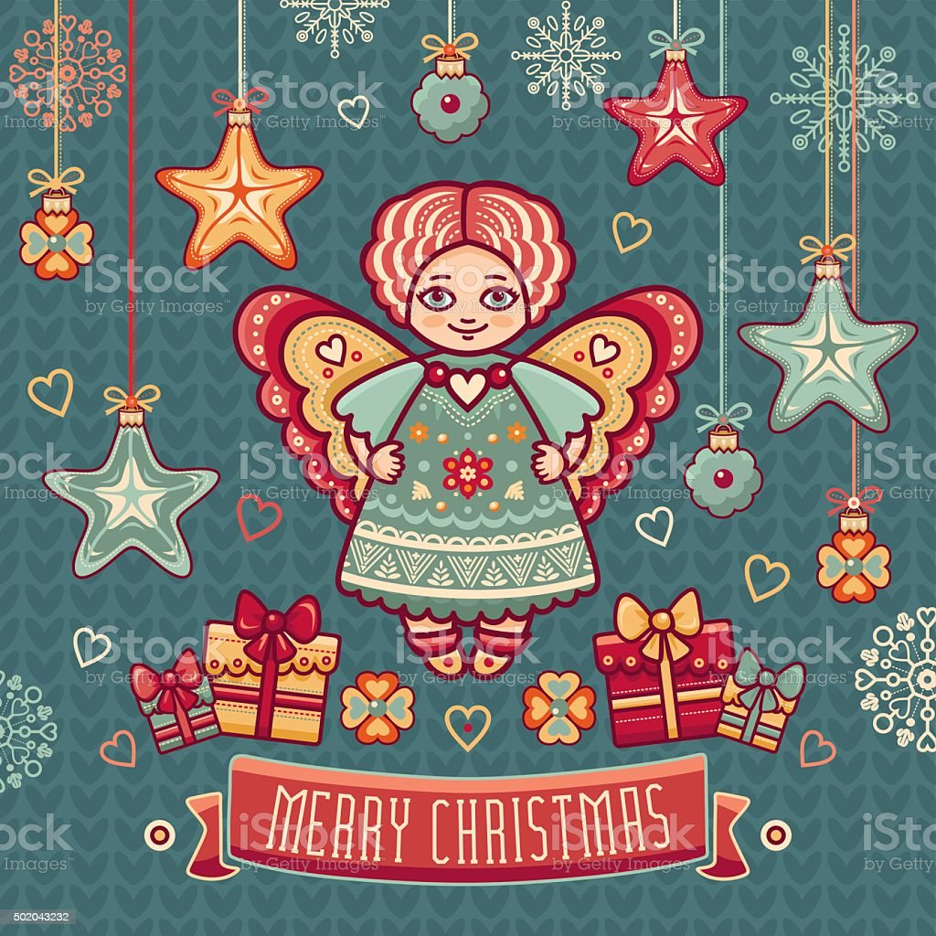Angel Greeting Cards Stock Vector Art & More Images of 2015 ...