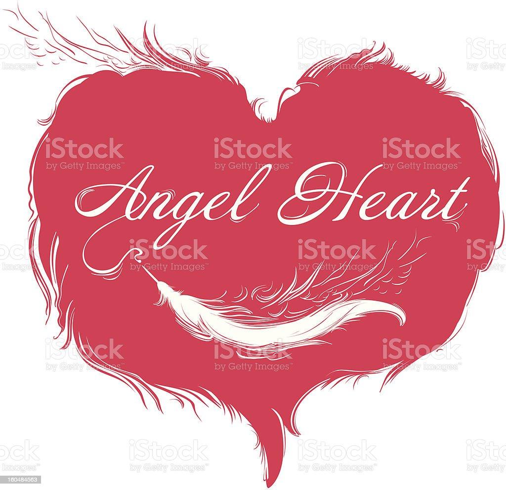 Angel Heart. royalty-free stock vector art