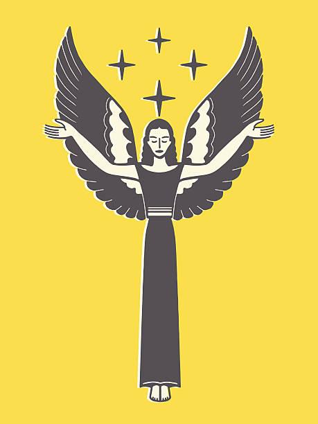 angel hält arme - schutzengel stock-grafiken, -clipart, -cartoons und -symbole