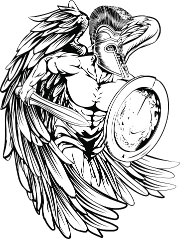 Angel in armour