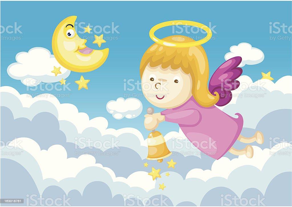 angel in sky royalty-free stock vector art