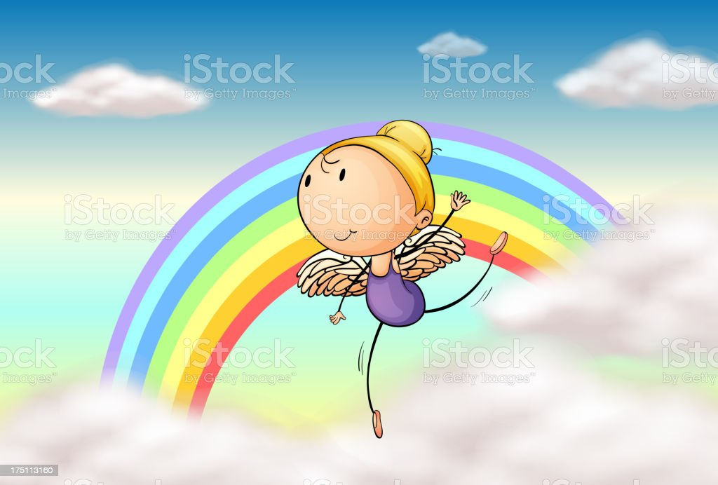 Angel in the rainbow royalty-free angel in the rainbow stock vector art & more images of adult