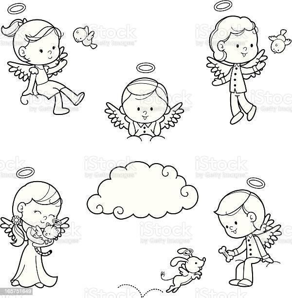 Angel kids coloring set vector id165751649?b=1&k=6&m=165751649&s=612x612&h=ndv 18r5 tb hxrnmqxkqfrsrsvptlyjfuyyspqlako=