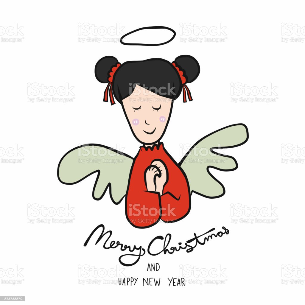 angel merry christmas and happy new year cartoon royalty free angel merry christmas and happy
