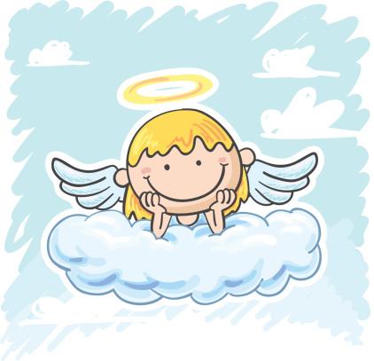 Angel on the cloud