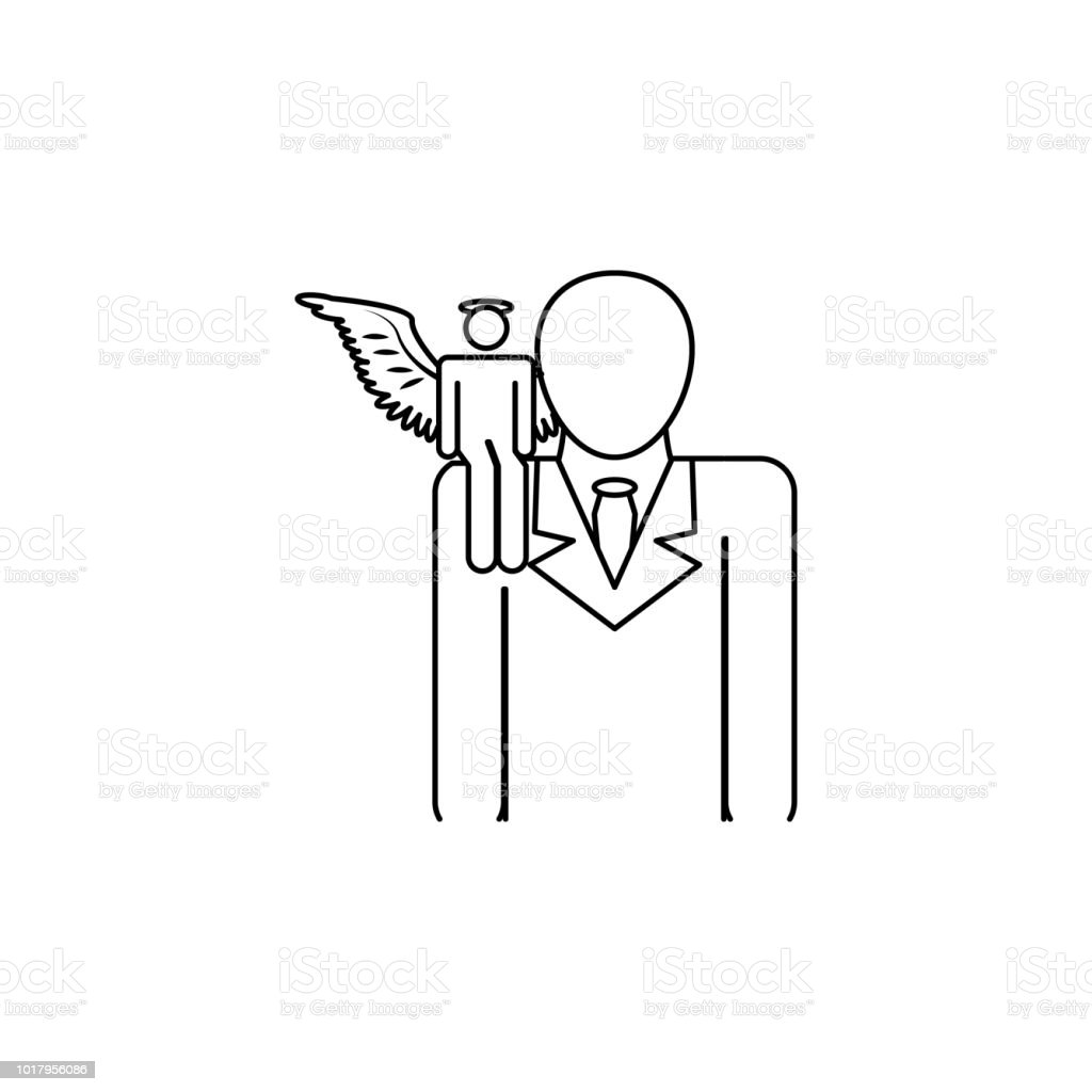 royalty free angel devil shoulder clip art  vector images  u0026 illustrations