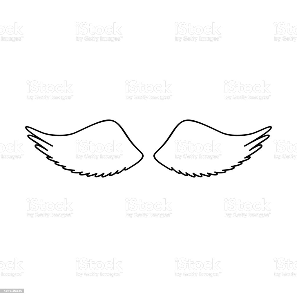 Angel Or Bird Wings Silhouette Stock Illustration Download Image