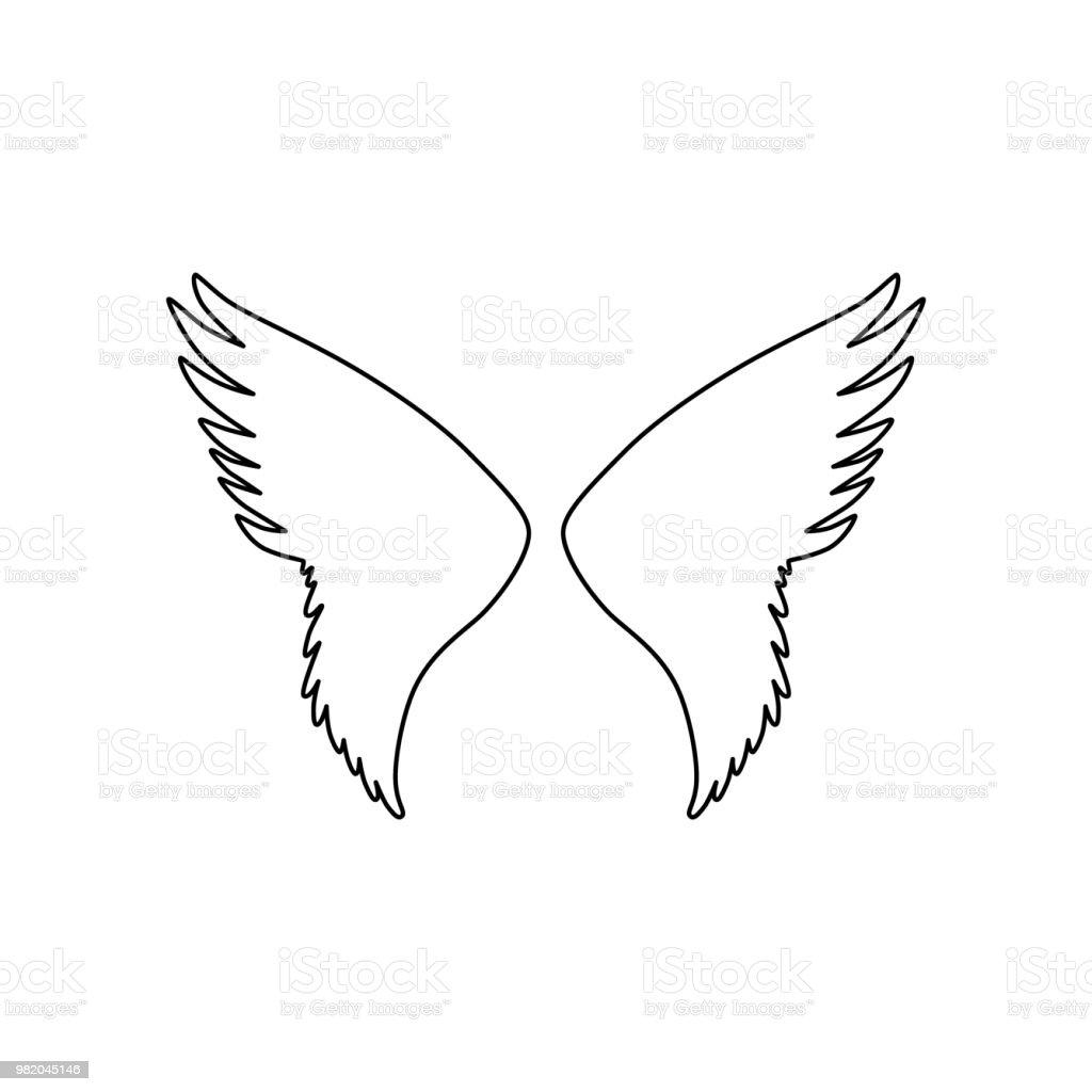 Ilustración De Silueta De Alas De ángel O Pájaro Y Más