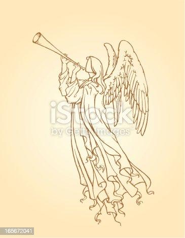 istock Angel Playing Trumpet 165672041