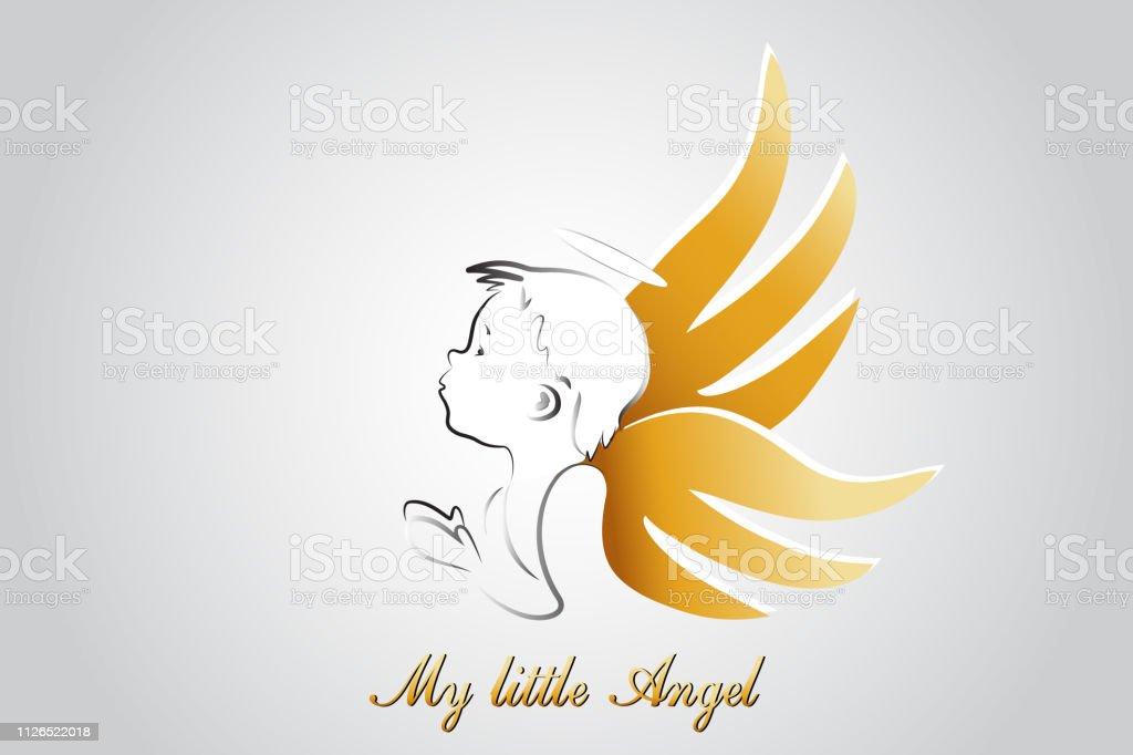 Vector de icono oración Angel - ilustración de arte vectorial