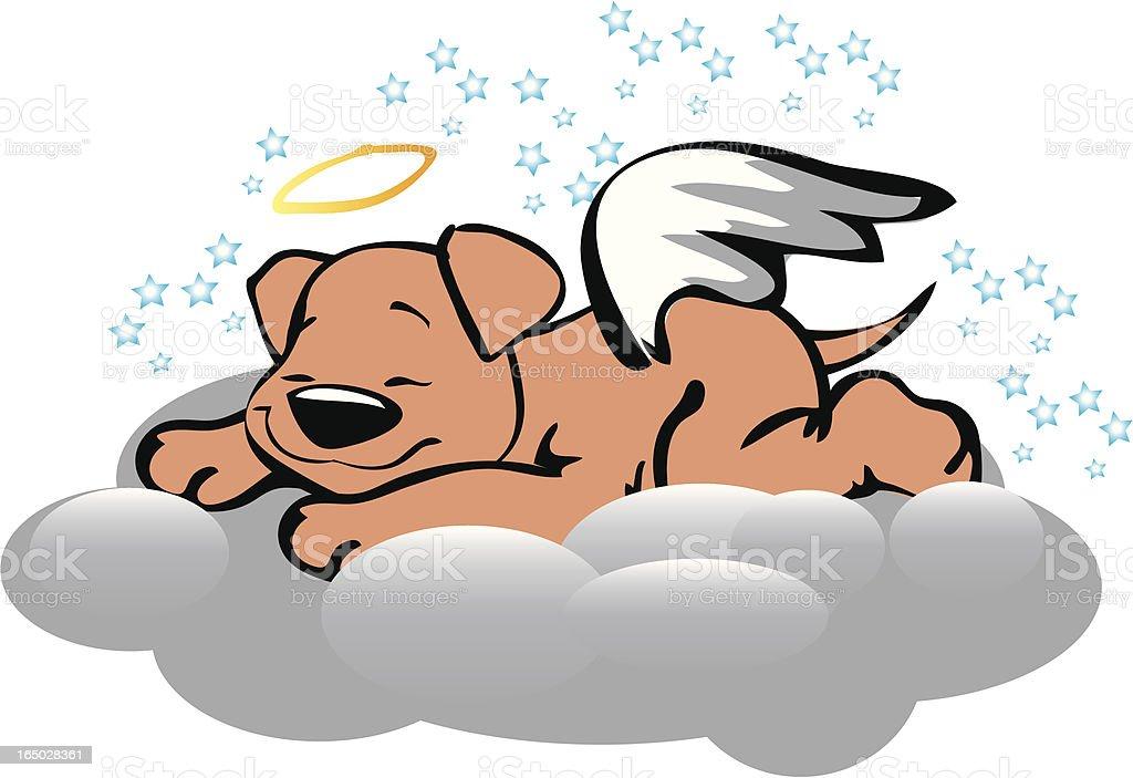 Angel Puppy royalty-free stock vector art