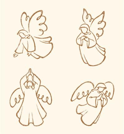 Angel Sketch Set 2