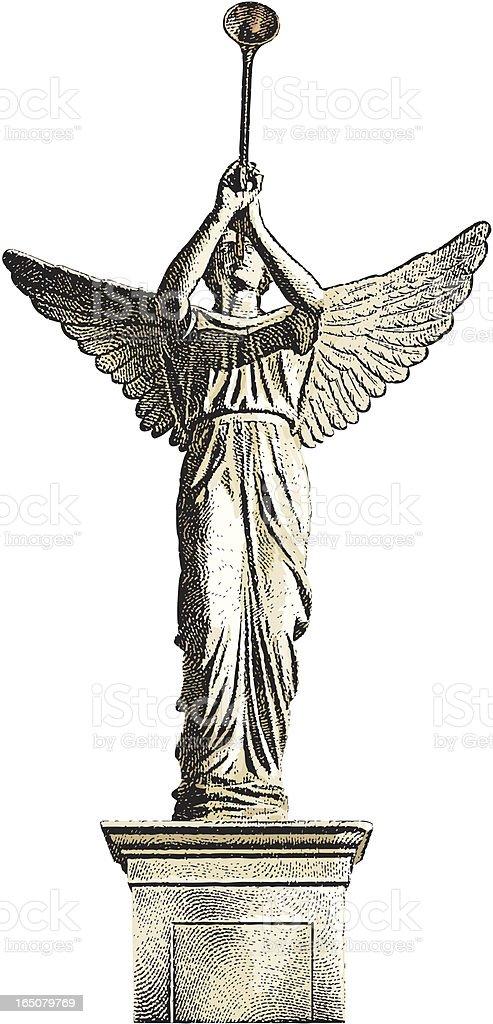 Angel Statue vector art illustration
