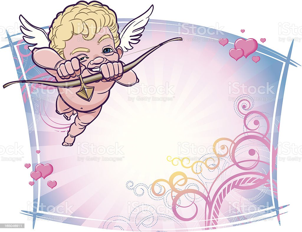 Angel  targeting in your Heart royalty-free stock vector art