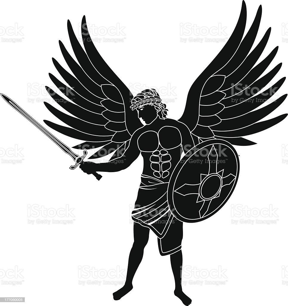 angel - ilustración de arte vectorial