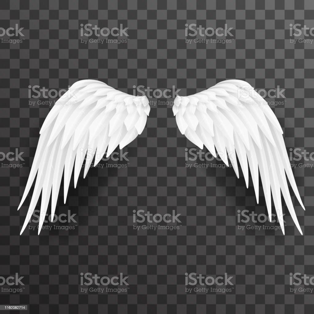 Dessin Ange Realiste ange ailes blanches oiseau mouche 3d réaliste design