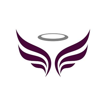 angel wing logo template Illustration Design. Vector EPS 10.