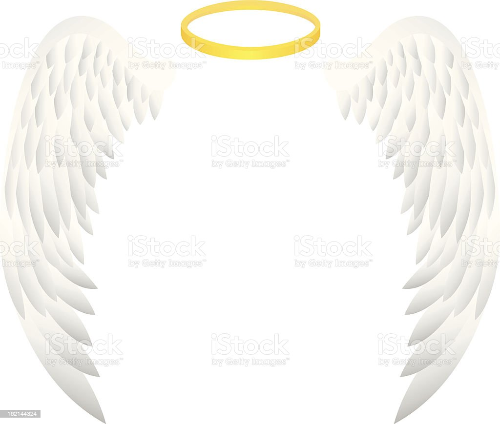 angel wing vector art illustration
