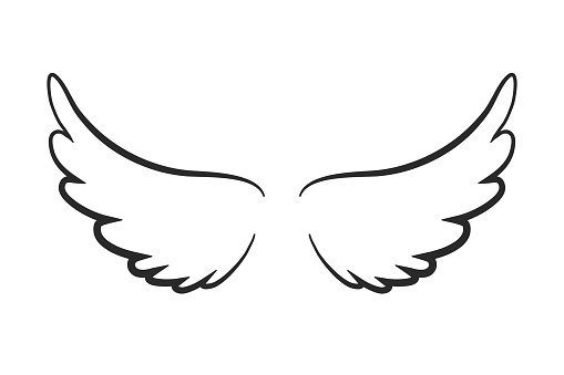 Angel wings icon - stock vector