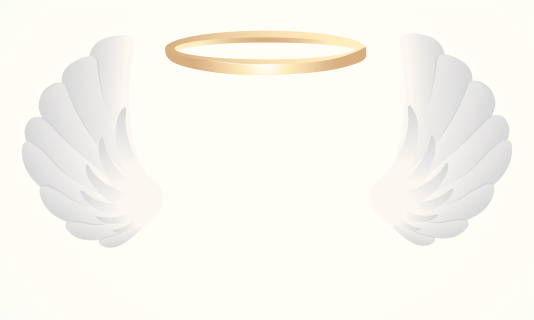 Angel wings with a halo