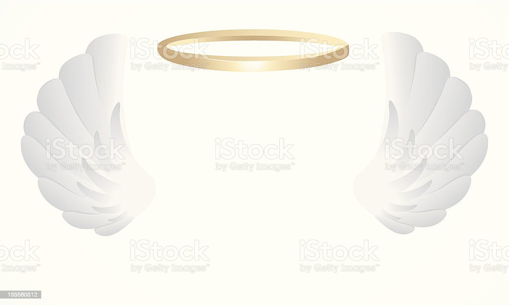 Angel Wings vector art illustration