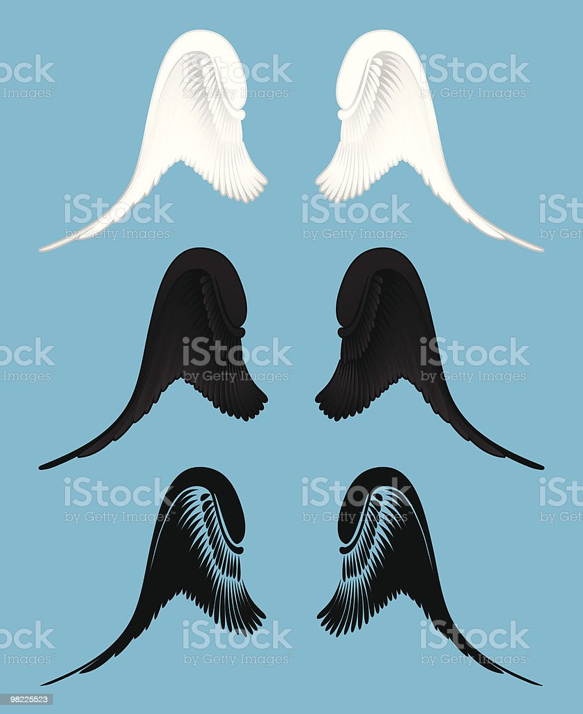 Angel Wings royalty-free angel wings stock vector art & more images of angel