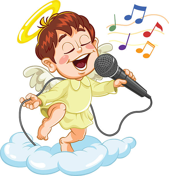 Best Angels Singing Illustrations, Royalty-Free Vector ...