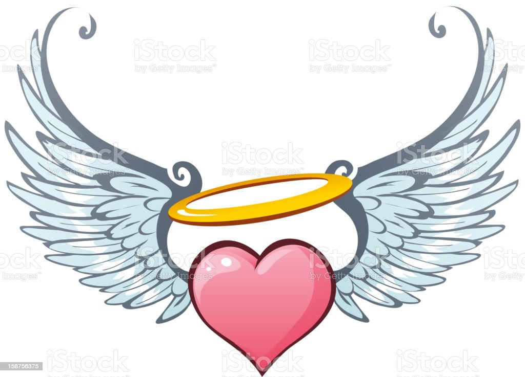 Angelic love vector art illustration