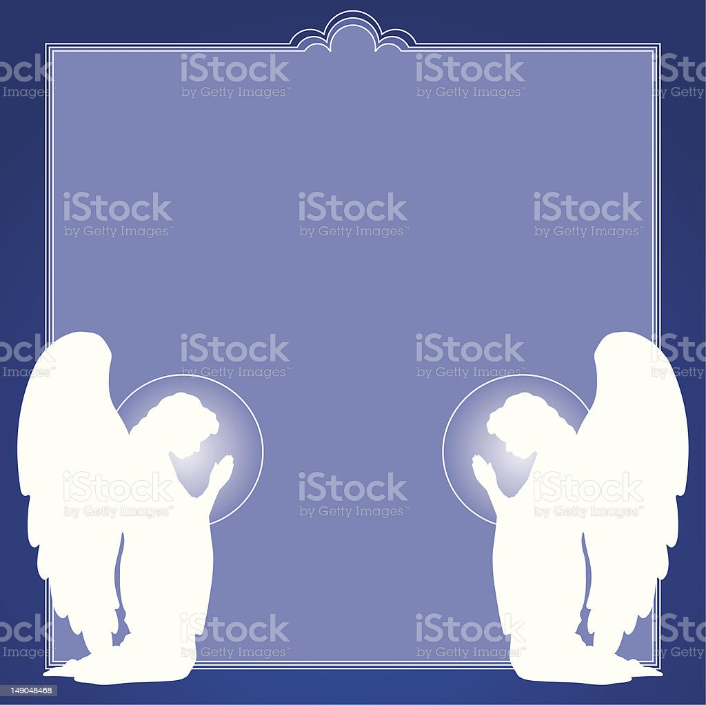 Angels Frame with copy space vector art illustration