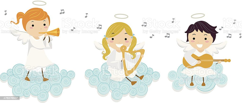 Angels Sing royalty-free angels sing stock vector art & more images of angel