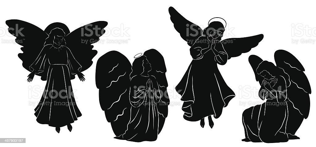 Angels vector art illustration