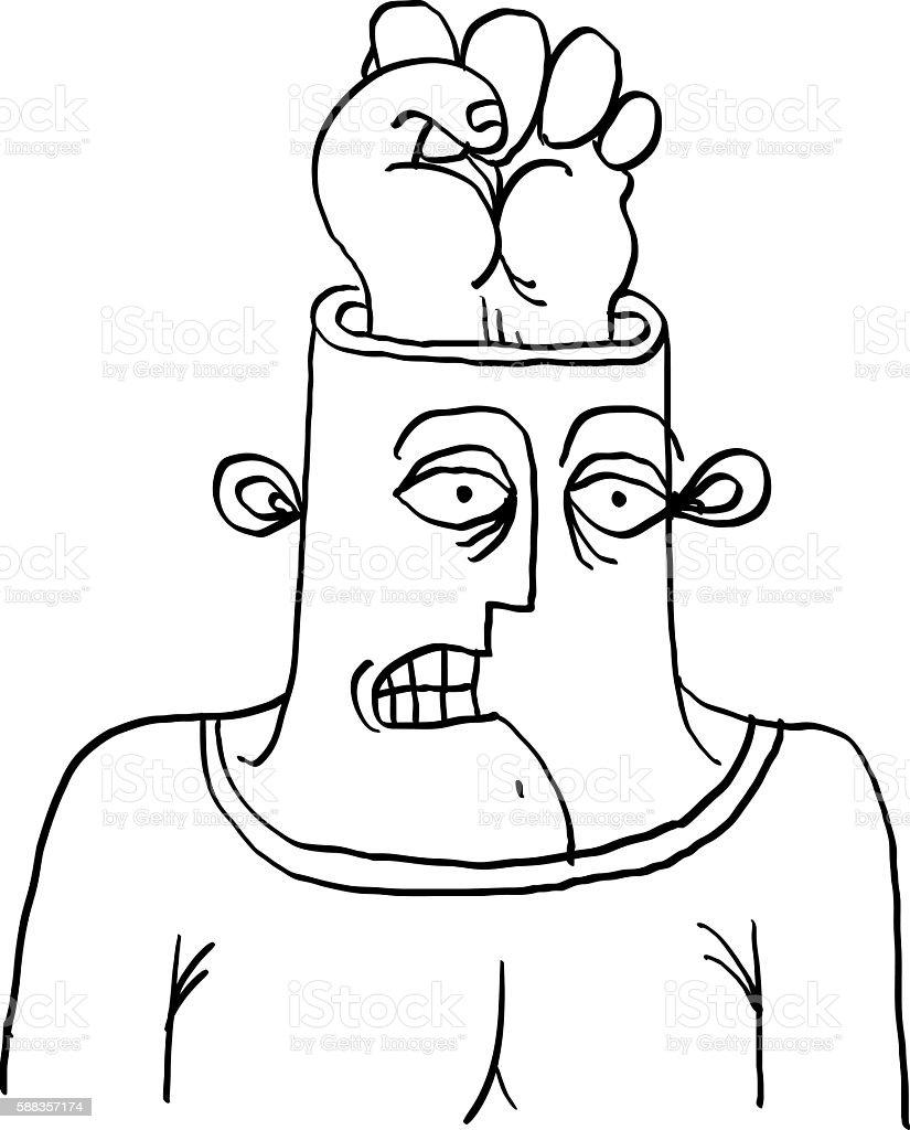 weird face vector 1 clip art vector site